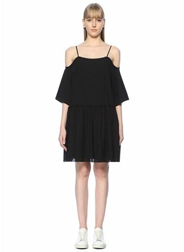 Academia İnce Askılı Mini Elbise Siyah